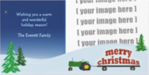 Tractor Christmas Photo Card