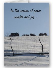 Farm Scene Christmas Card