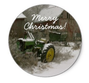 John Deere Christmas Envelope Seal